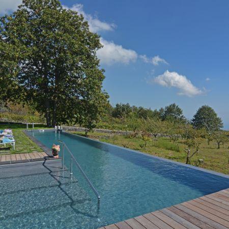 Elegant pool with heated water