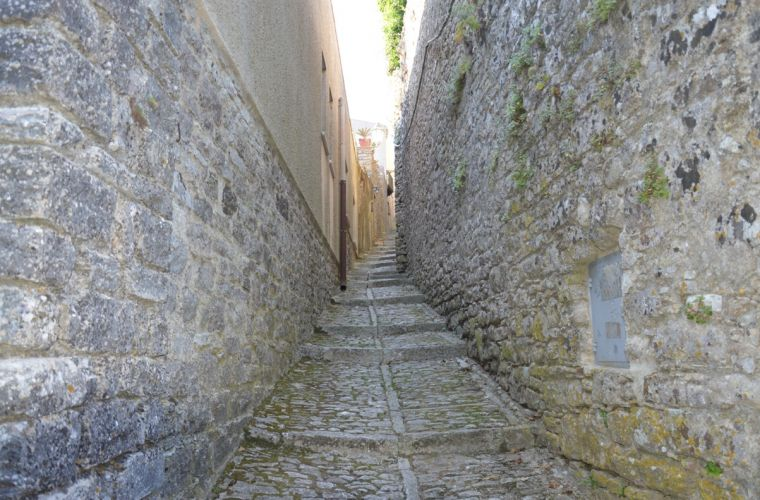 The stone in this narrow alley