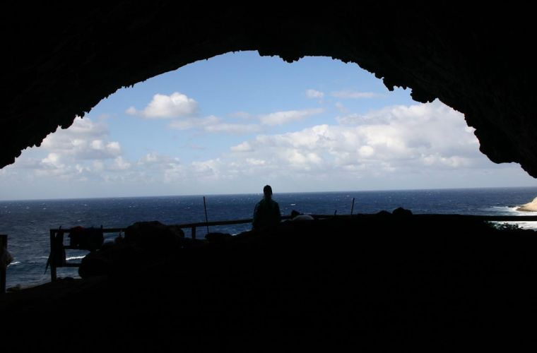 "A gorgeous panorama from this 11.000 years old ""window"""
