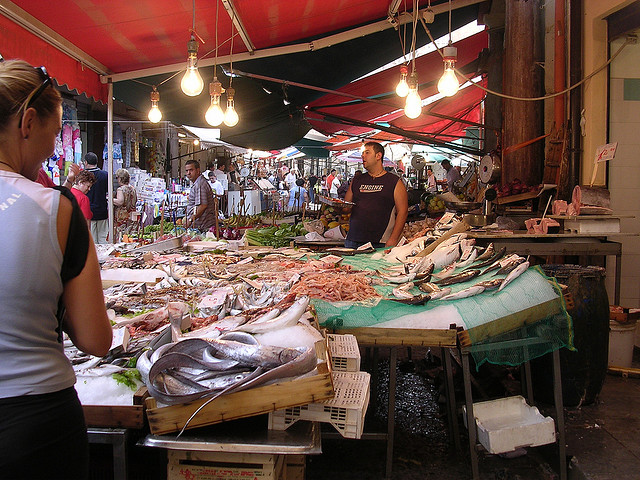 Fishmarket in Trapani, 5 km's