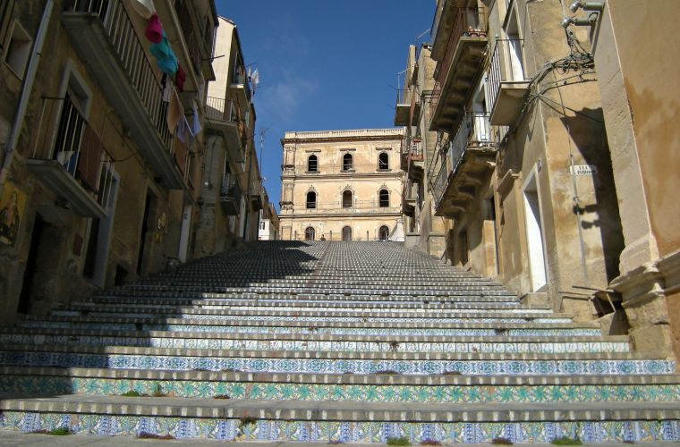 Caltagirone, 60 km's away