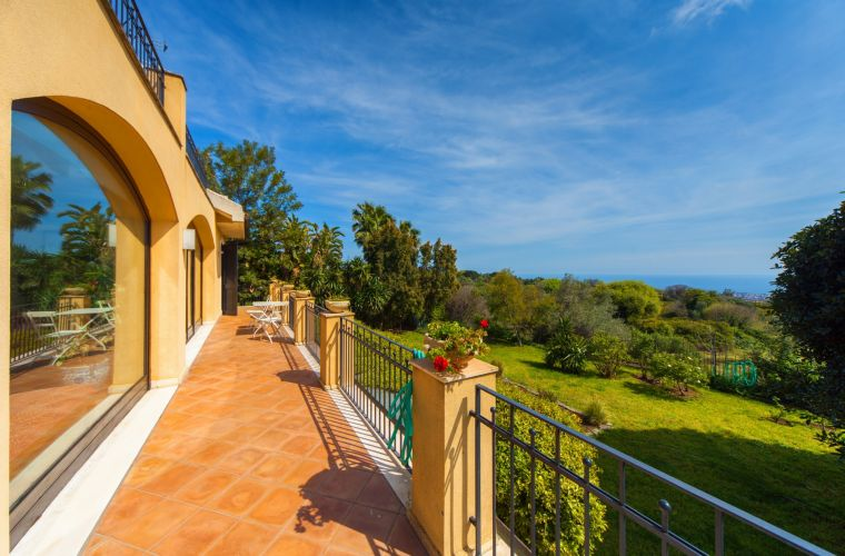 You have an ocean view that embraces almost the whole Eastern coast of Sicily