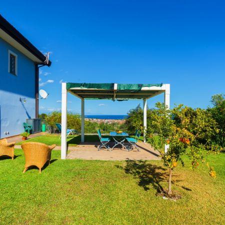 Lawn, patio, Mediterranean sea