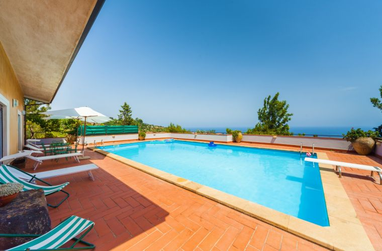 You can see the Italian mainland from this villa