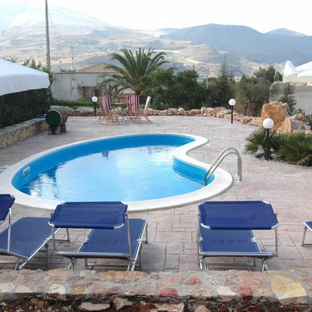 A typical Sicilian landscape viewed from the pool