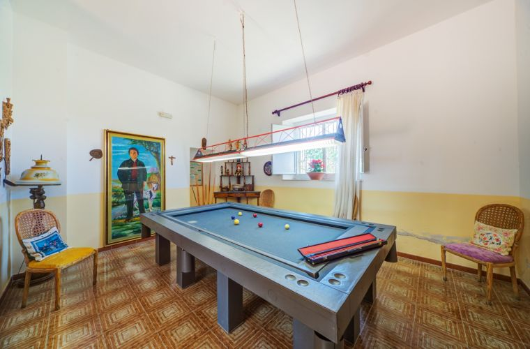 Billiard room with a very prestigious table