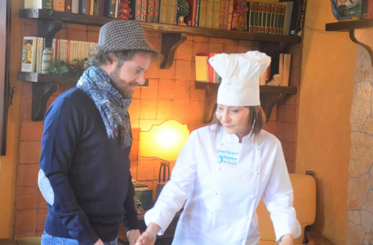 Luca and the chef Silvana