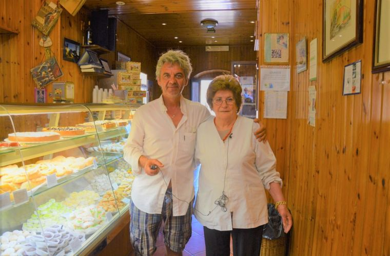 Erice: with the well-known Maria Grammatico, renowned for her patisserie