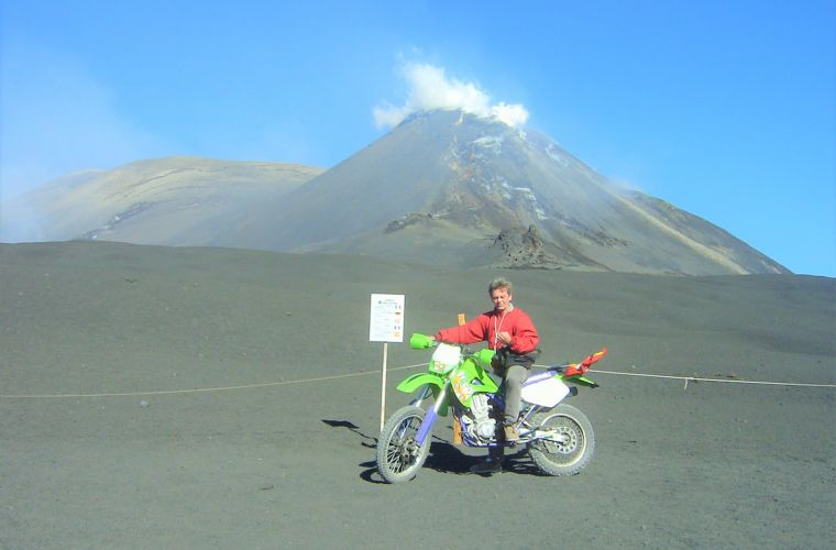 Me and she (Etna): I was the only person allowed to reach top of Etna (3000 m. a.s.l.) with a motorcycle