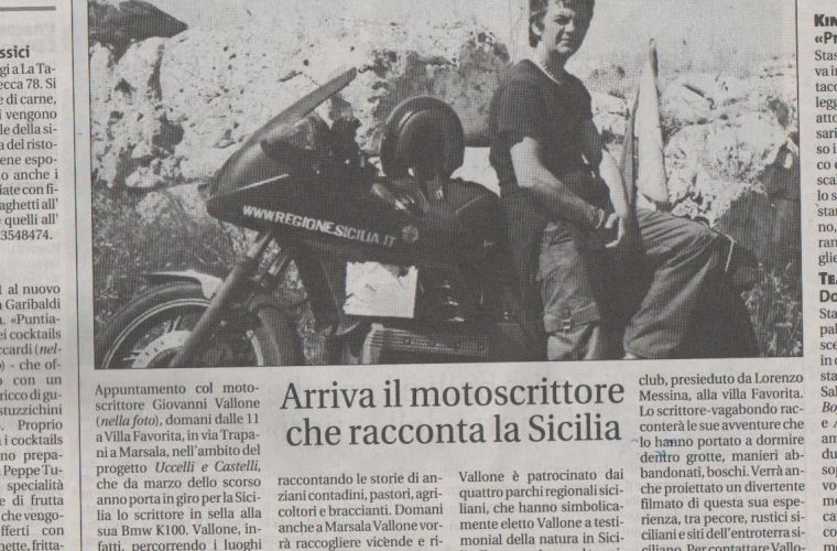 Here comes the motorwriter who tells about Sicily