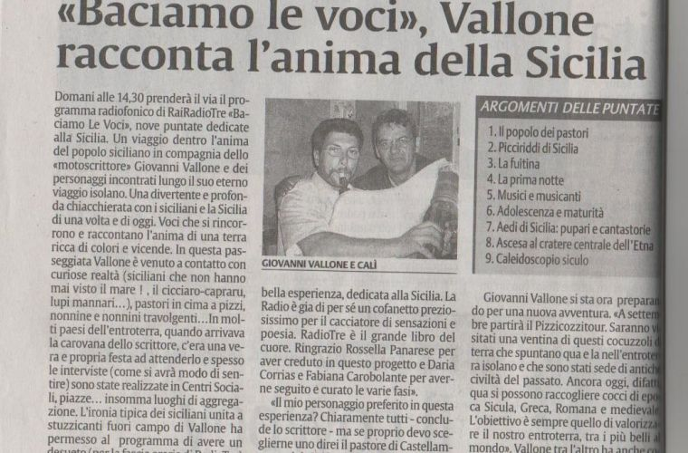 Vallone tells the real soul of Sicily