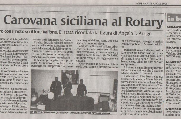 The Sicilian show by Giovanni Vallone hosted by the Rotary club