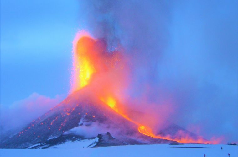 Etna volcano(40km's),the giant of Sicily.