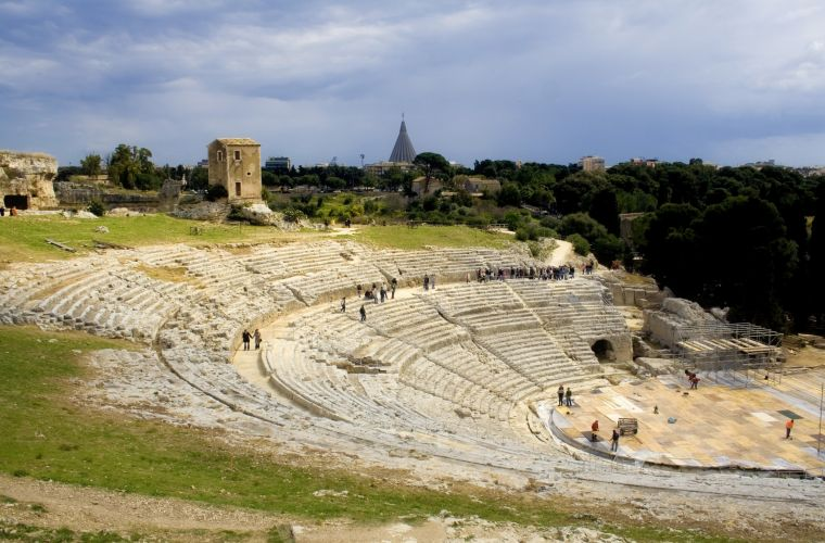 Syracuse (100km's) is worldwide famous for its gorgeous archeological remains.