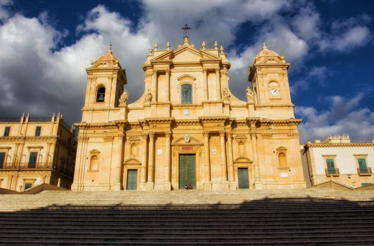 Noto (15km's)is the capital of Baroque style in the world.