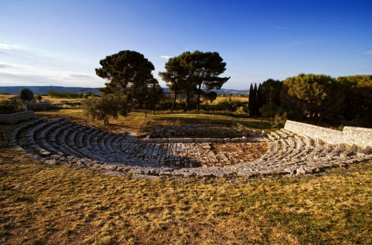 Akray 25km, a Greek site, in Palazzolo Acreide.