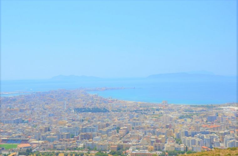 Trapani-Erice (20 km's) the city of love for its shape (a triangle!)
