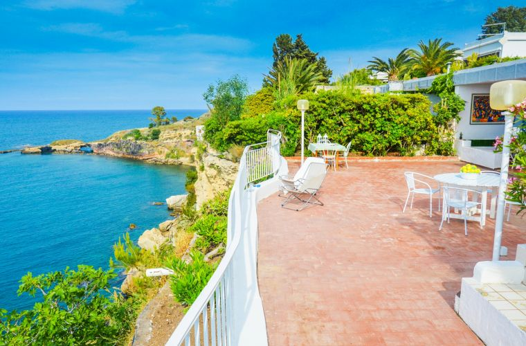 Enjoy the amazing and spacious terrace overlooking the sea
