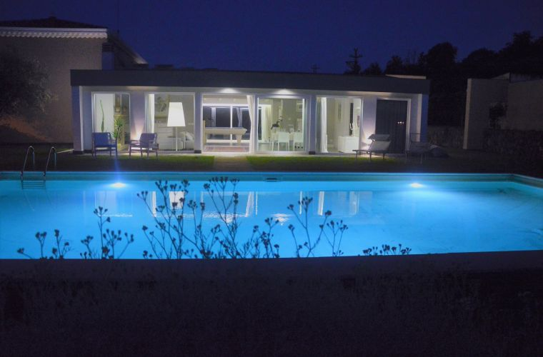 Night in the villa