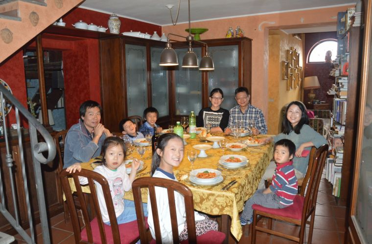 Koreans in Sicily: meal after the Cooking Class
