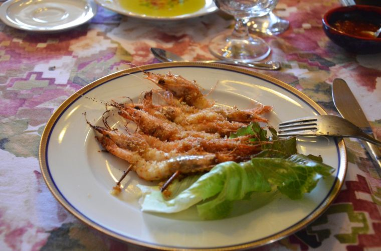Sicilian shrimp: grilled