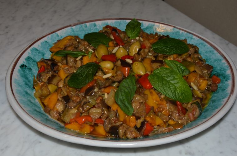 Caponata: one of the most typical Sicilian dishes