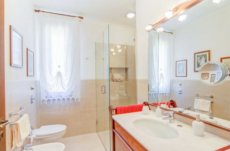 Elegant and clean bathrooms
