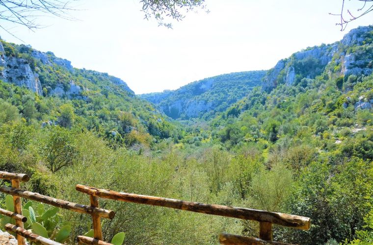 Ispica canyon (Cava d'Ispica), 30 kms away