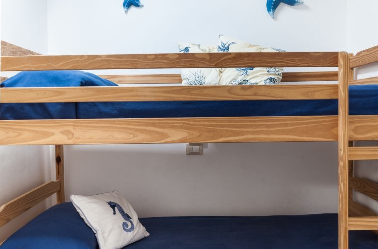 Bunk bed and Mediterranean detailes.